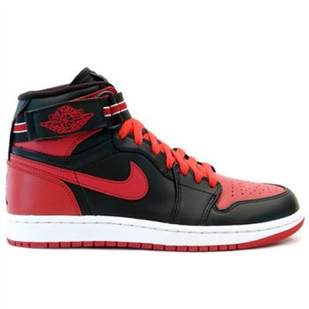 342132 061 Air Jordan 1 Retro Mens Basketball Shoes High Strap Black Red  A01012 e190f09fb3