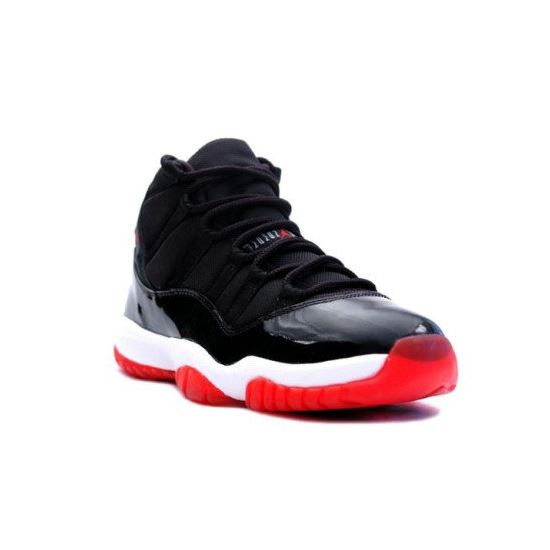 378037-010 Air Jordan 11 (XI) Bred 2012 Black White Varsity Red Playoffs  Women s Shoe c009d31016
