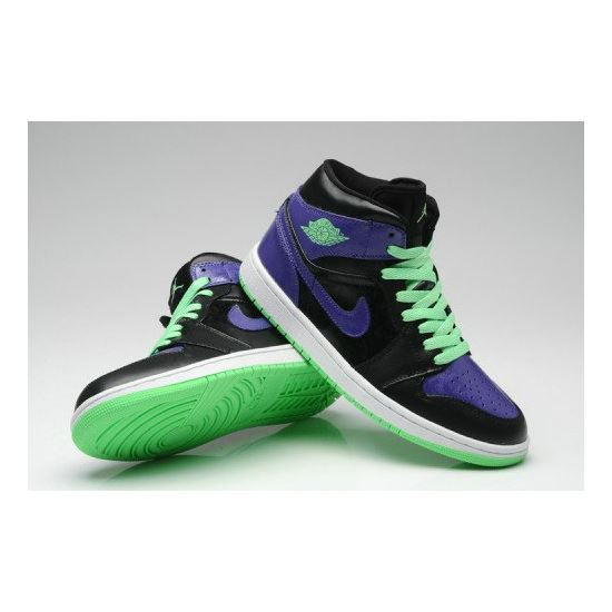 Air Jordan 1 Retro Joker All-Star Black Green Purple (Men Women GS Girls) 7f62331eb