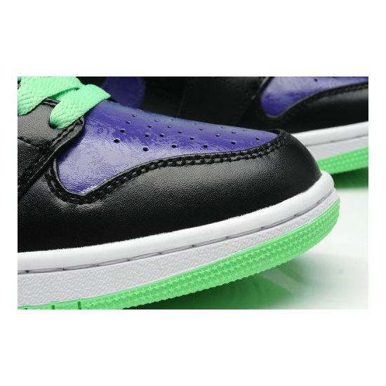 sale retailer 00396 e999d Air Jordan 1 Retro Joker All-Star Black Green Purple (Men Women GS Girls)
