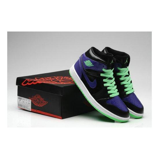 sale retailer fd2c3 12d4f Air Jordan 1 Retro Joker All-Star Black Green Purple (Men Women GS Girls)