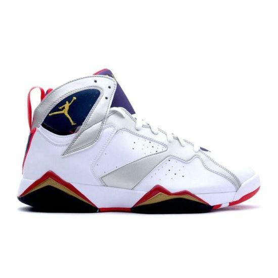 online retailer c2f10 6f993 304775-135 Air Jordan 7 (VII) Olympic 2012 White Metallic ...