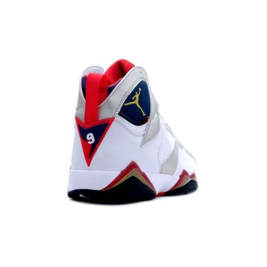3bcb73bc7b0704 304775-135 Air Jordan 7 (VII) Olympic 2012 White Metallic Gold Obsidian  True Red (Women Gs Girls)